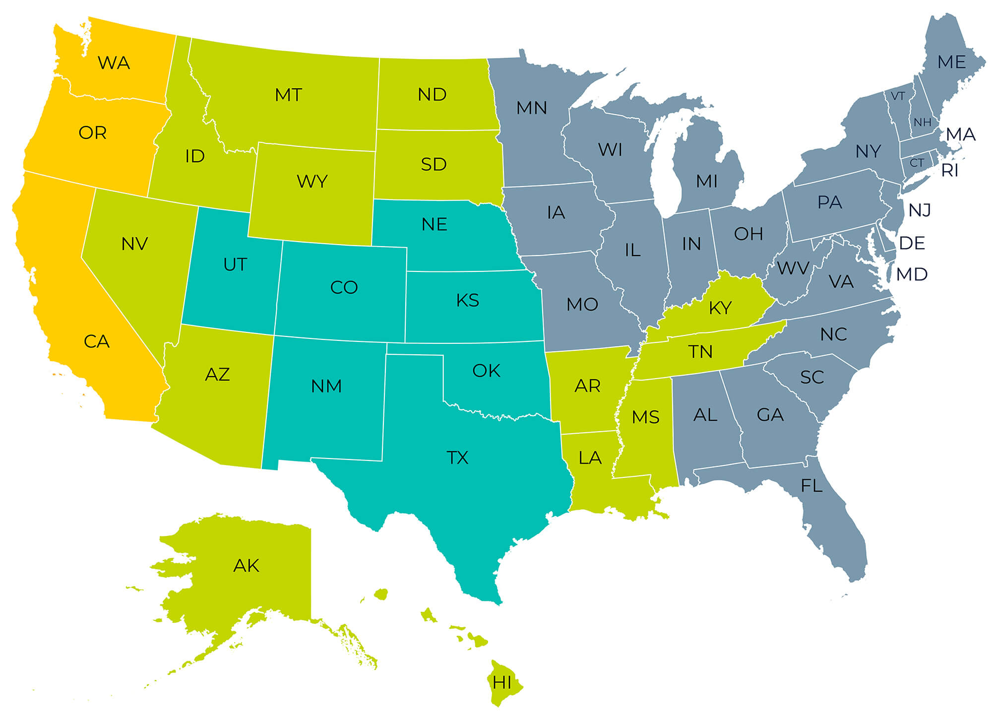Agilitech Sales Rep Locator Map
