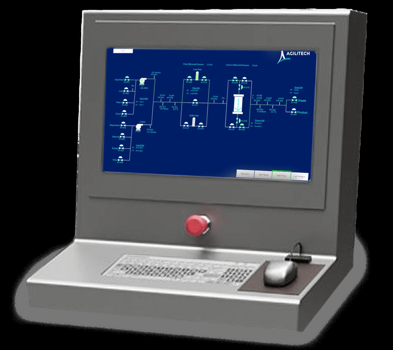 Agilitech Chromatography System Control Panel