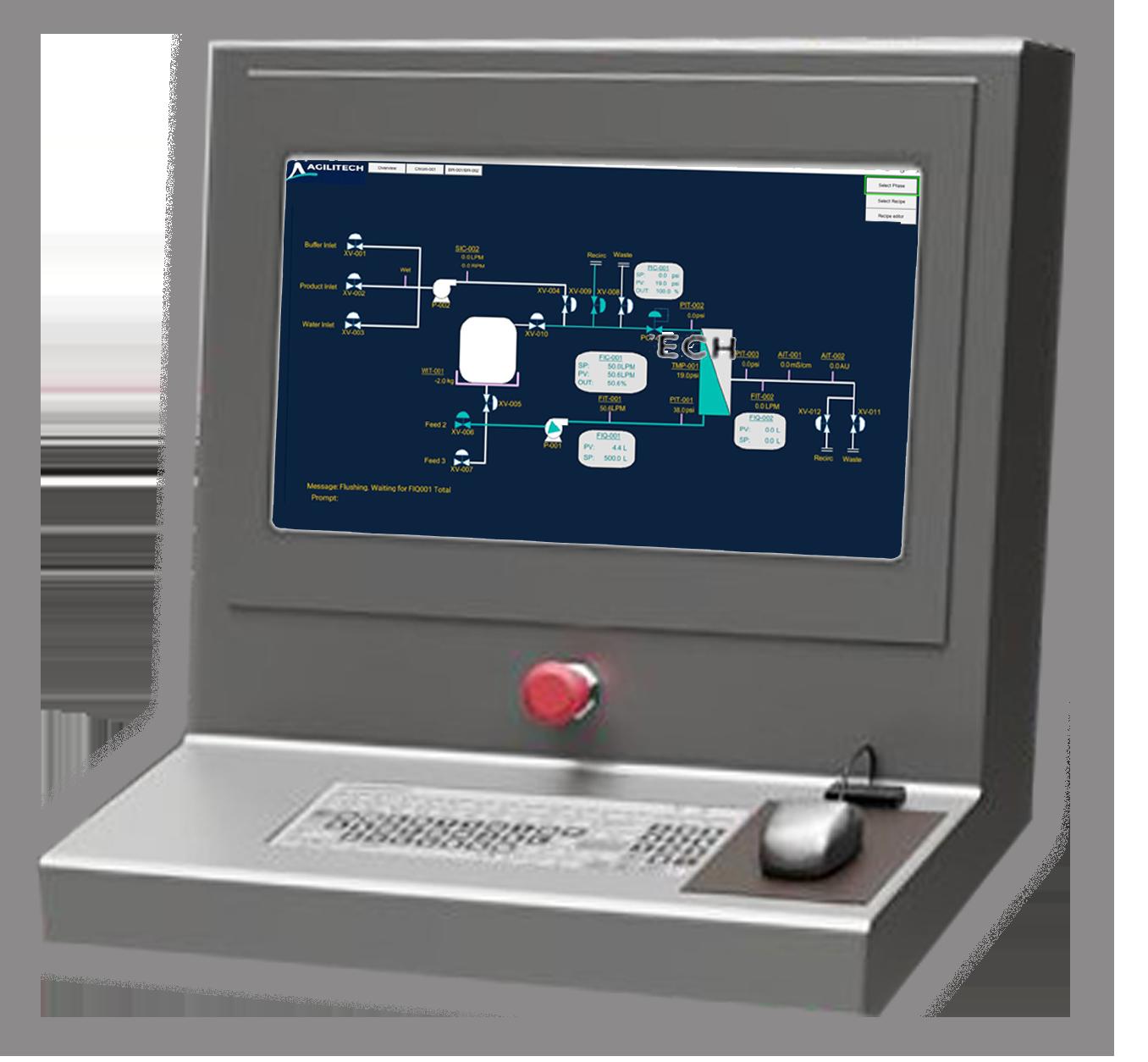 Agilitech TFF Chromatography User Interface